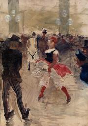 A l'Elysee Montmartre painted by Henri de Toulouse-Lautrec in 1888