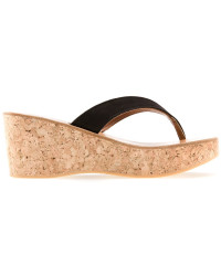 K Jacque Cork  Sandals Black