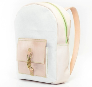 Leon & Bella White Backpack