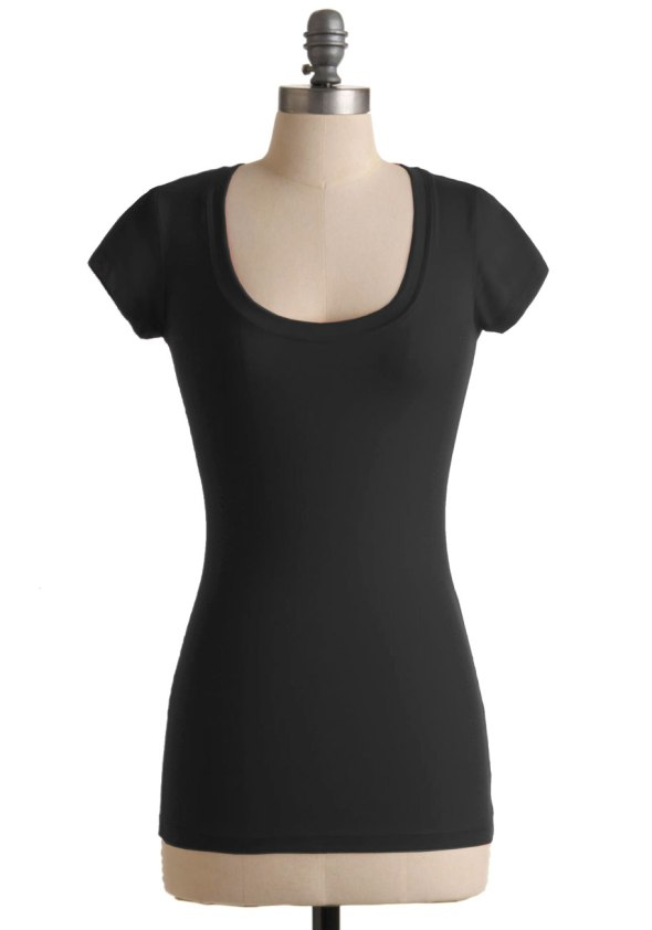 Black Scoopneck T-shirt ModCloth