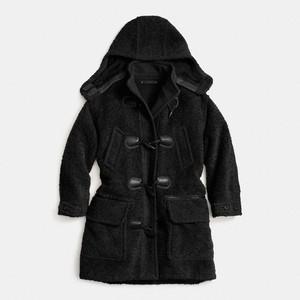 Coach Duffle Coat Black 2014