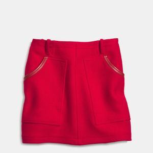 Coach Wool Work Wear Skirt Red 2014