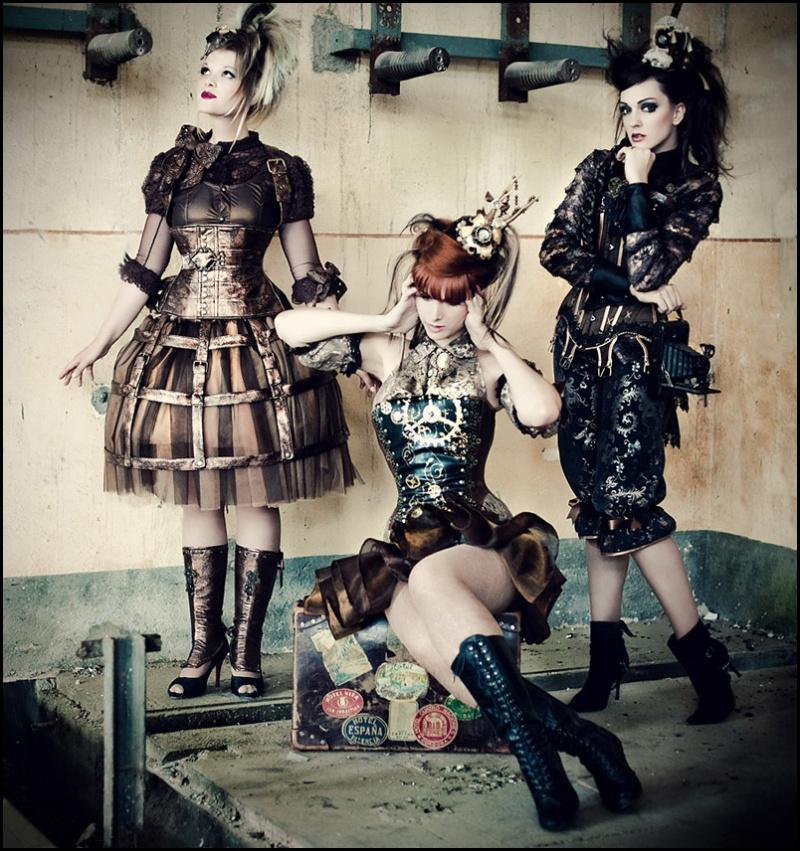 Steampunk Couture Dress Steampunk Clockwork Couture