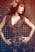 Steampunk corset person