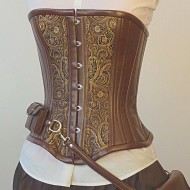 steampunk corset tooled leather
