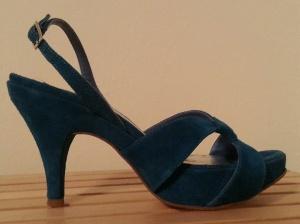Marina Rinaldi Blue Suede Sandals