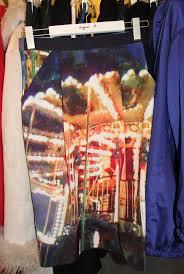 Agnes b merry-go-round photo skirt