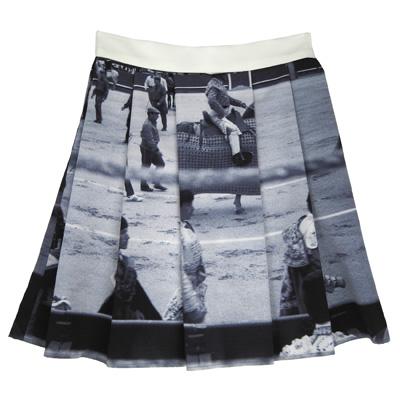 agnes b photo bw skirt