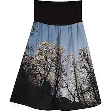agnes b photo print skirt