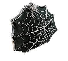 Bernard Delettrez black ponyhair spiderweb clutch