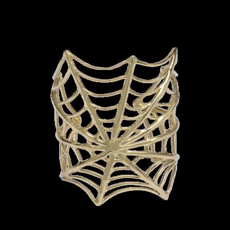 bernard-delettrez-bronze-spiderweb-cuff-
