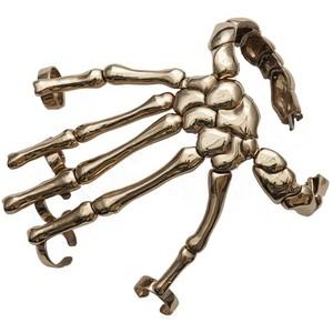 Bernard Delettrez. Skeleton Hand Cuff and Rings