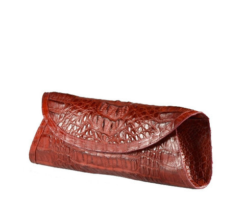"JALDA Brown Croc ""Original"" Clutch"