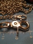 Chain leash with two clips