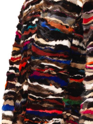 Diane von Furstenberg Fur Finale Coat Close Up