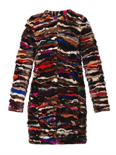 Diane von Furstenberg Fur Finale Coat Matches