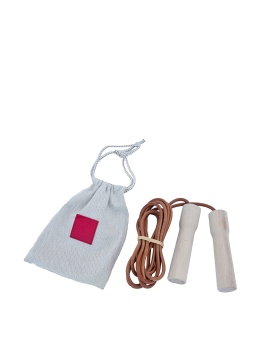 Hermès Leather Jump Rope Wooden Handles