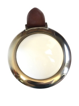 Hermès Silver-Plated Magnifier, Clear-Brown-Silver