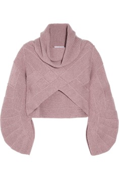Hervé LégerCropped cashmere sweater