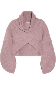 Hervé LégerCropped cashmere sweater