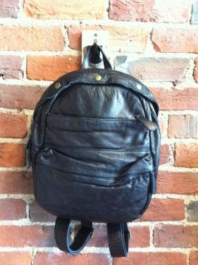 Liebeskind Lora Leather Backpack L Navy