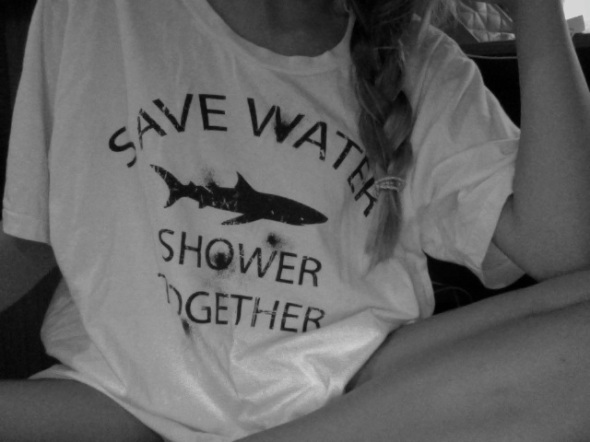 Save Water Shower Together Shark