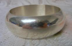 Silver Domed Bangle