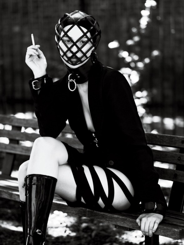 strict-Blazer Giorgio Armani Skirt Void Of Course. Mask Heather Huey. Choker And Cuffs The Leather Man. Boots Louis Vuitton.