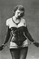 1930's Corset_Female_in_Corset_Chained