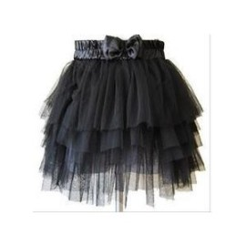 Black Tulle Mini Skirt