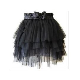Black Tulle Mini Skirt