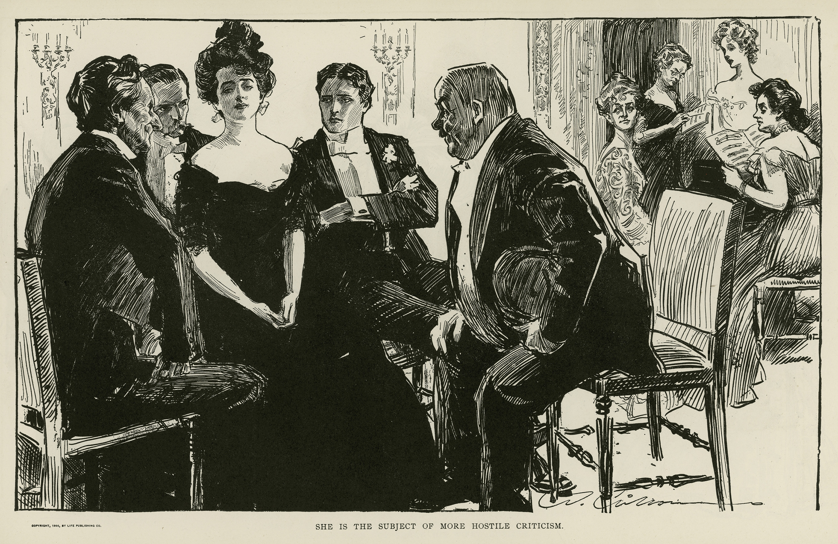 Charles Dana Gibson, illustration from A Widow and Her Friends, published in Life, 1900.