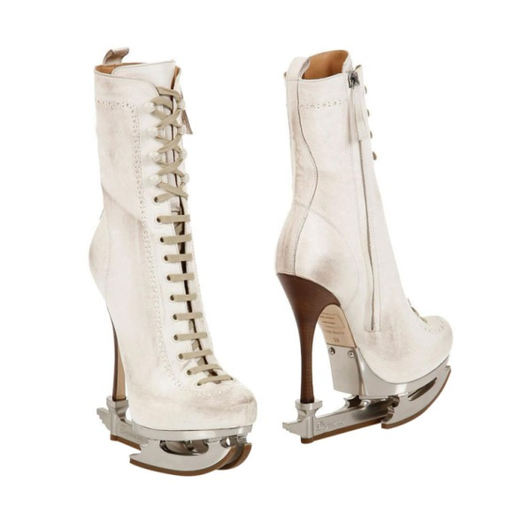 DSQUARED2 ICE SKATE White BOOTS
