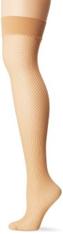 Fishnet Nude Thigh Highs