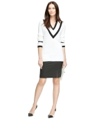 Brooks Brothers Cotton Supima V-neck sweater black Skirt