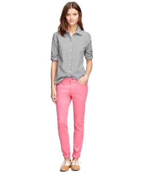 Brooks Brothers Gingham Shirt Pink Pants