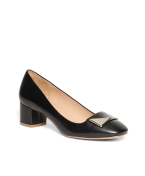 Brooks Brothers Low Chunky Heel Black