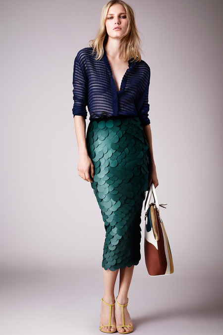 Burberry Prorsum_Resort 2015 scale skirt stripe top