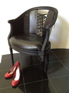 Corset Chair Garouste and Bonetti decor for Christian Lacroix, 1987