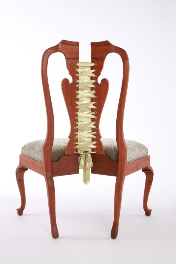 Corset Chair  Victorian Spread Michele Marti back
