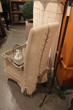 Corset Chair white cotton duck