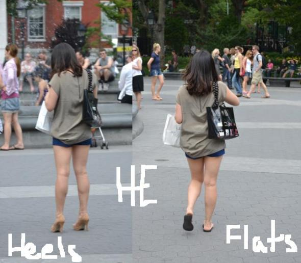 heels vs flats how girls look different in heels vs flats fashion by he nyc street style