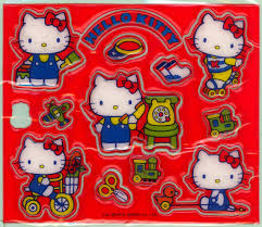 Hello Kitty Puffy Stickers