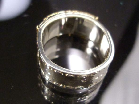 Hermes Padlock Ring Yellow Gold 18K Sterling Silver 925 EU54 US6 25 A438   eBay