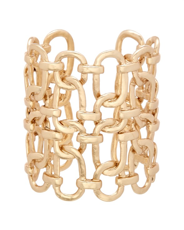 Kenneth Jay Lane gold link cuf