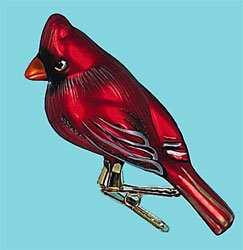 Male Cardinal Bird Tree Clip Ornament