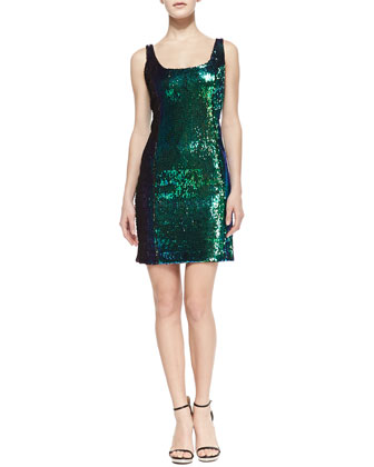 MILLY Anna Sequin Tank