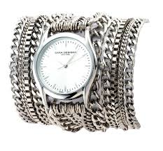 Sara Designs Chain Wrap Watch.Silver