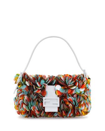 Fendi Paillette Baguette Shoulder Bag, Multicolor BG $2900