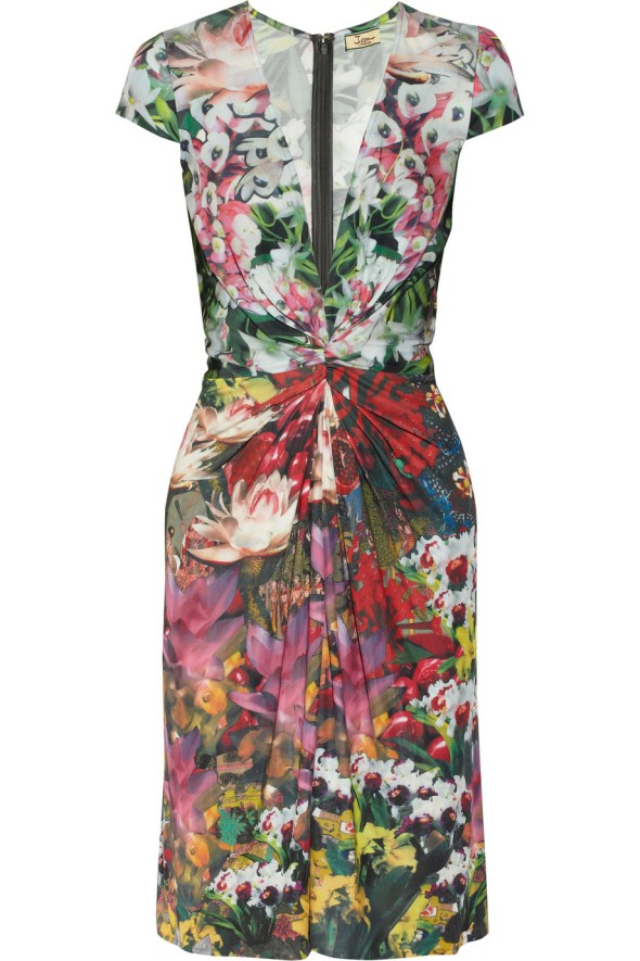 Issa Knit Jersey Floral Dress 2